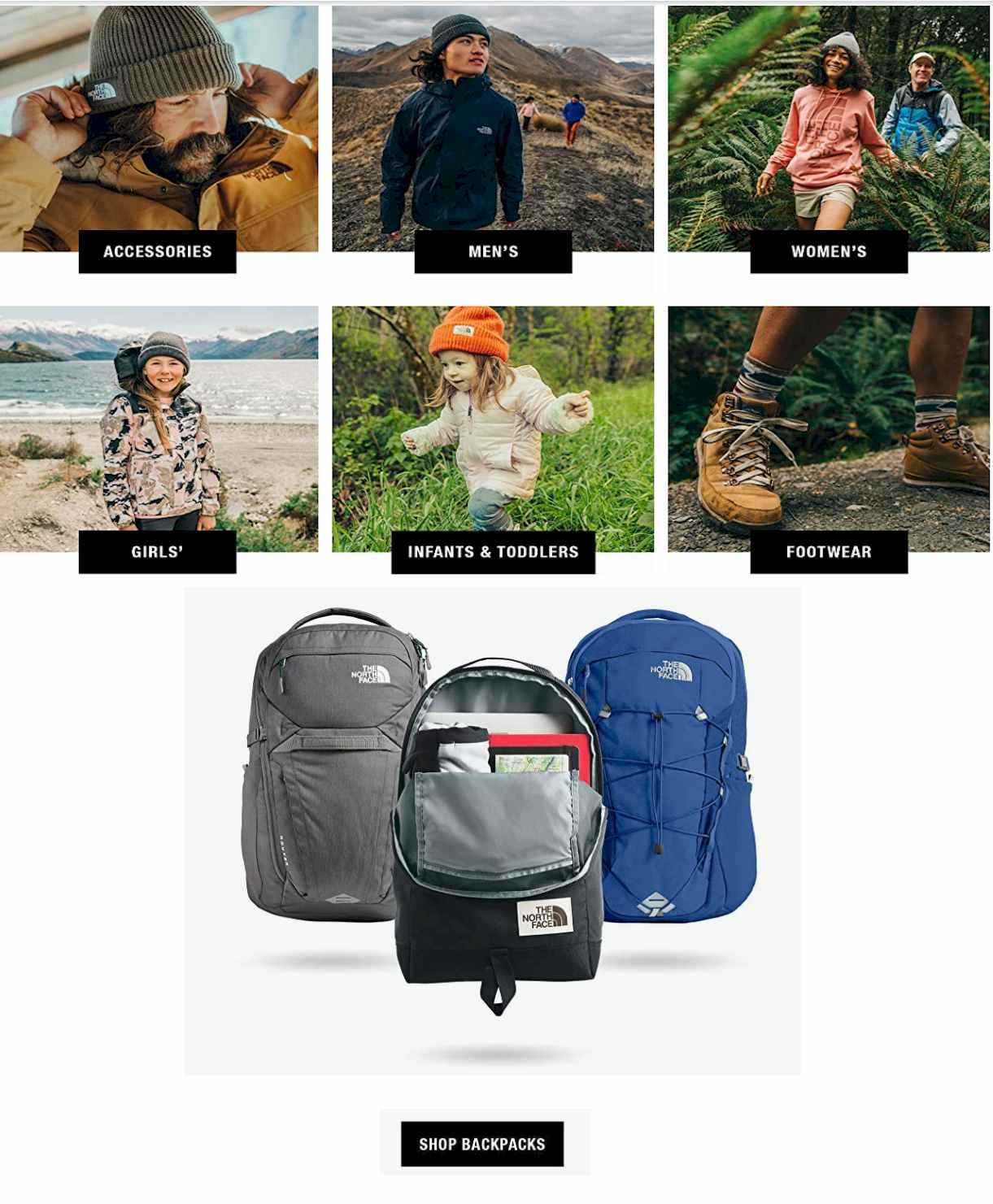 North Face Store on Amazon
