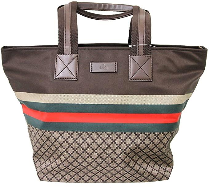 Gucci 2020 Handbag Unisex Brown Nylon Diamante - #bag #Gucci #woman #christmas