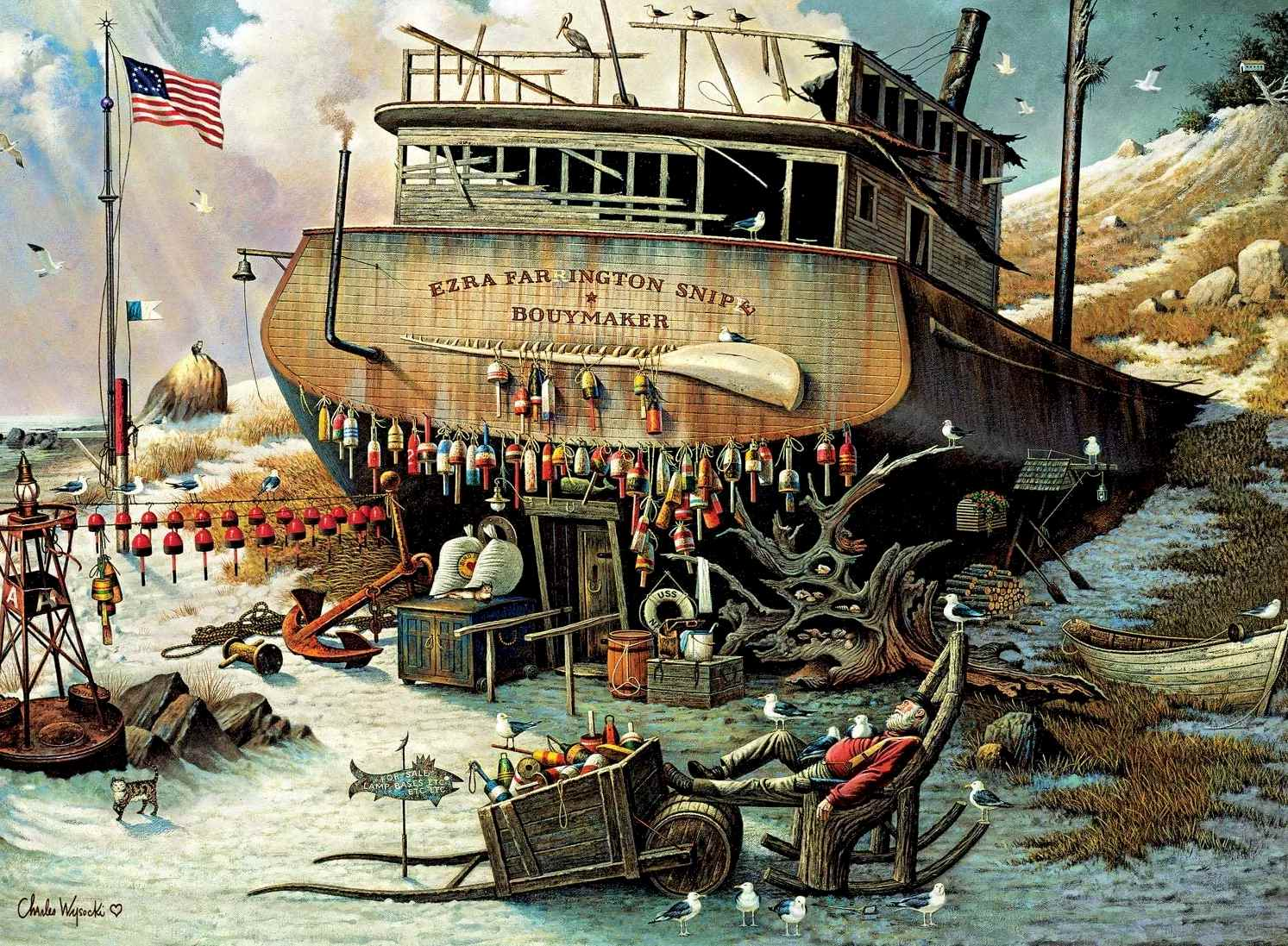 Buffalo Games - Charles Wysocki - Where The Buoys are - 1000 Piece Jigsaw Puzzle