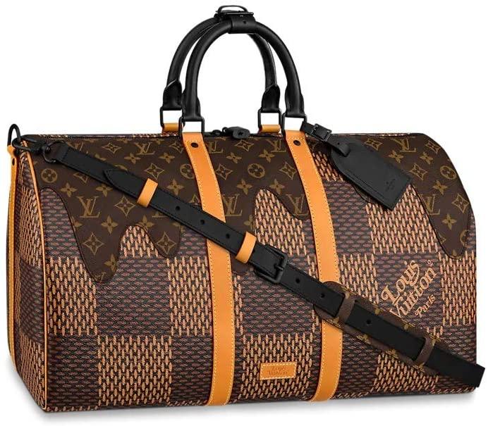 Louis Vuitton x Nigo LV² Collection Keepall 50 Bandouliere Travel Bag Luggage