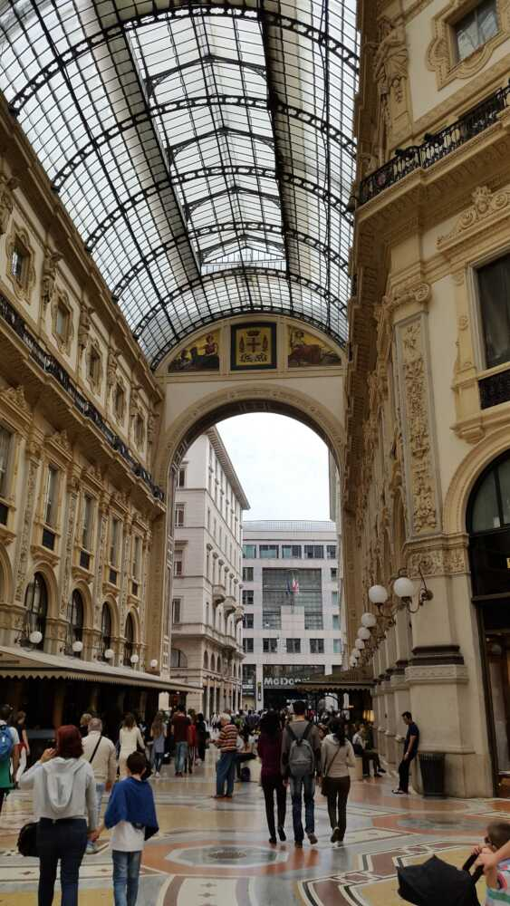 Vittorio Emanuele II Gallery  The Vittorio Emanuele II Gallery is a famous shopping arcade in #Milan. Here are some of the most elegant and prestigious shops in the city. #Italy
