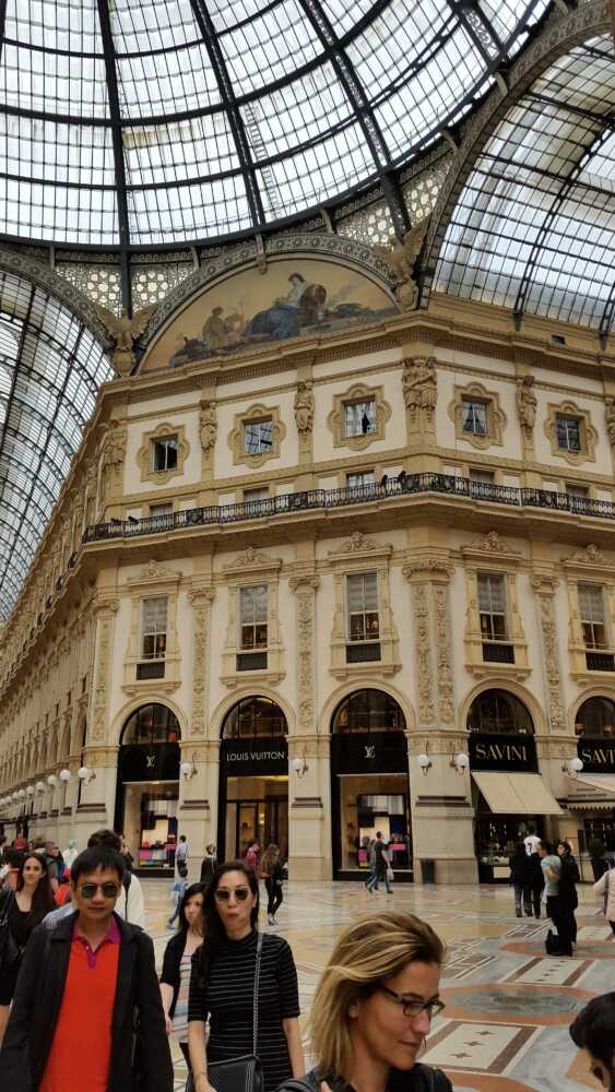 Vittorio Emanuele II Gallery  The Vittorio Emanuele II Gallery is a famous shopping arcade in Milan. Here are some of the most elegant and prestigious shops in the city.