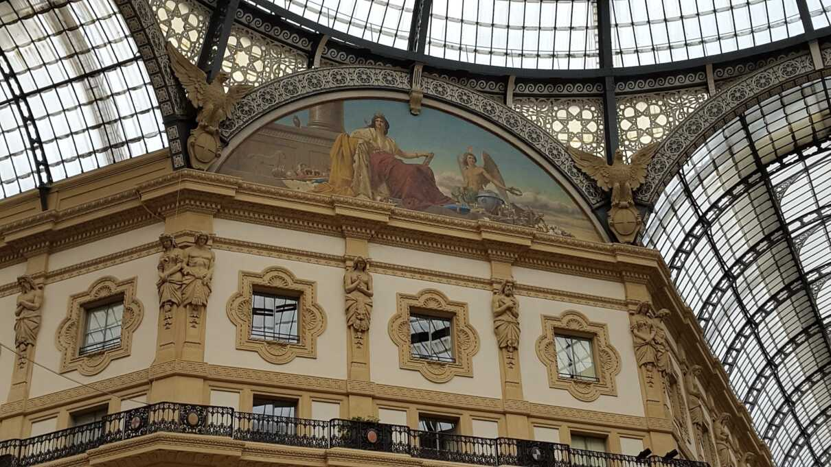 Vittorio Emanuele II Gallery  The Vittorio Emanuele II Gallery is a famous shopping arcade in #Milan. Here are some of the most elegant and prestigious shops in the city. #Italy  SPQR