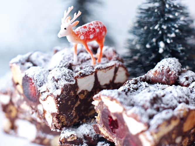 Christmas Rocky Road 2020. -Make ahead tip: Make the Rocky Road and refrigerate to set. Don't add the confectioner's sugar yet, but cut into bars, then store in an airtight container in a cool place for up to 1 week
