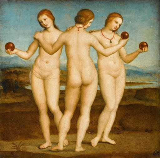 The Three Graces Nude in Art Renaissance