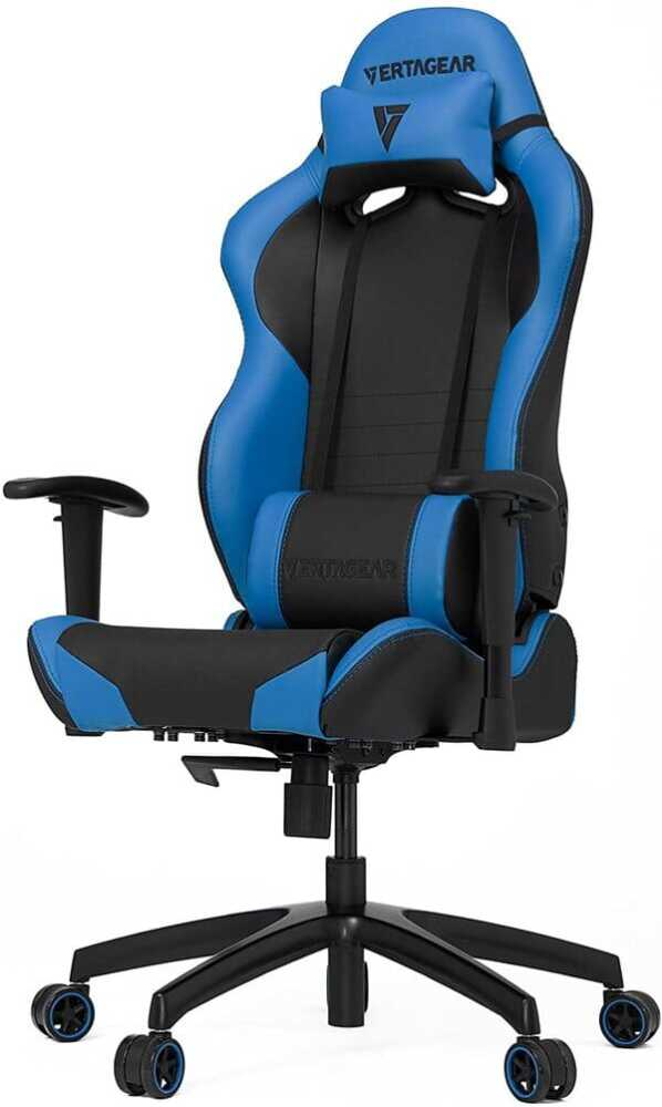 Gaming Chair Racing Seat, S-Line Slim SL2000 BIFMA Cert, Black/Blue