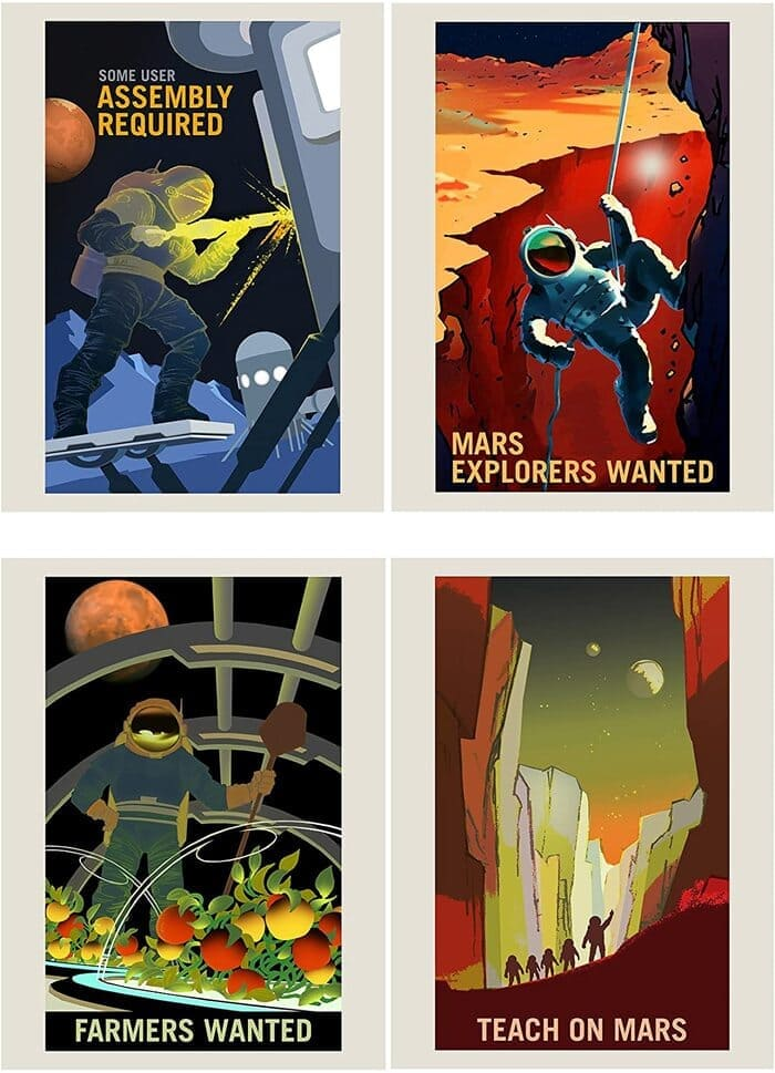 NASA Poster Space Exploration Job Advert Pack x 8 Posters Art Prints -amazon must haves 2021