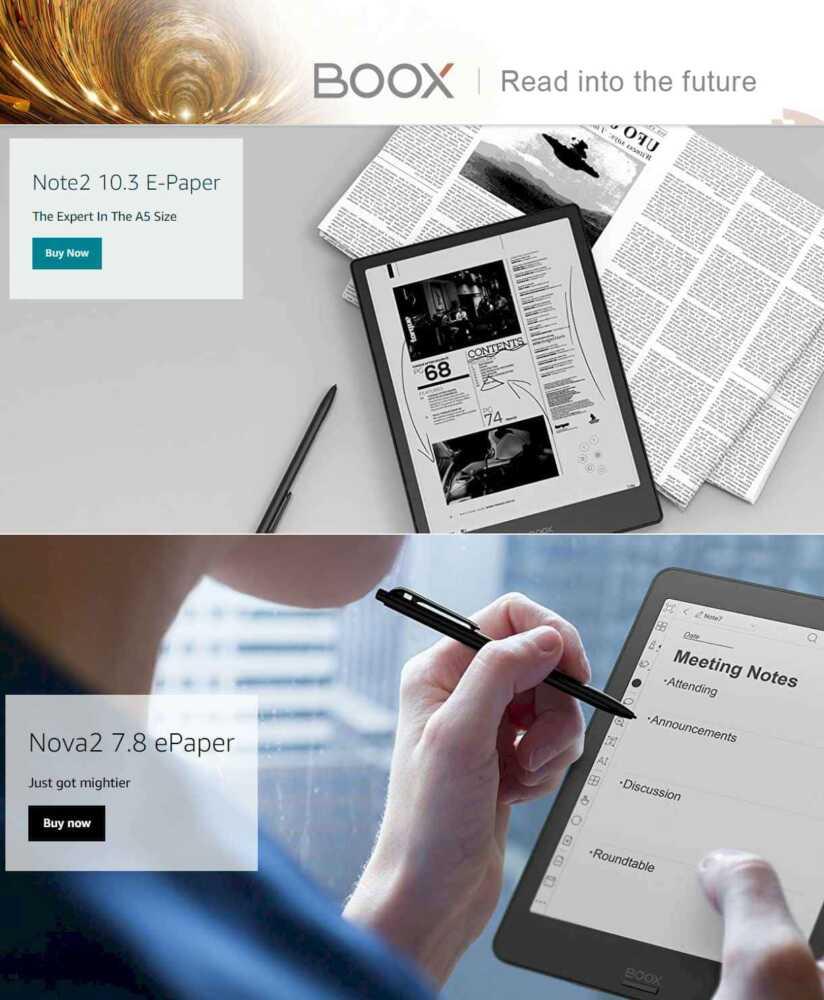 BOOX eReaders 2021 - History of eReader & eBook