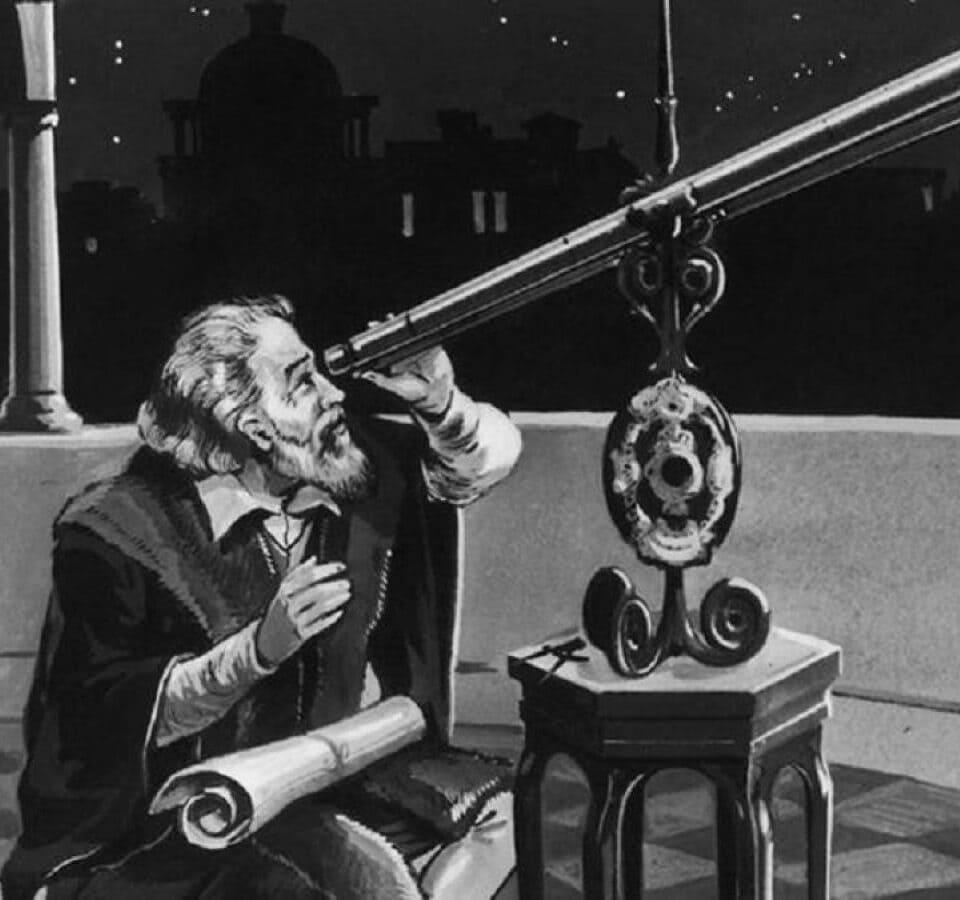 History of the Binoculars 1600 - 2000. Galileo