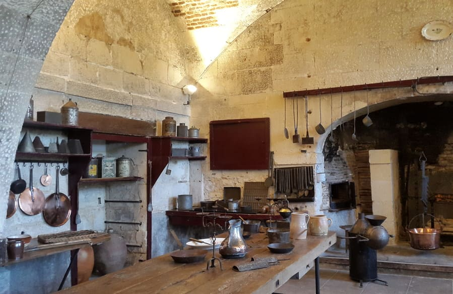 Kitchen in the castle of valencay - Câreme style -Talleyrand's gourmet food