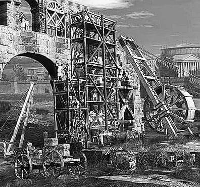 Roman Crane and Hoist in Ancient Rome