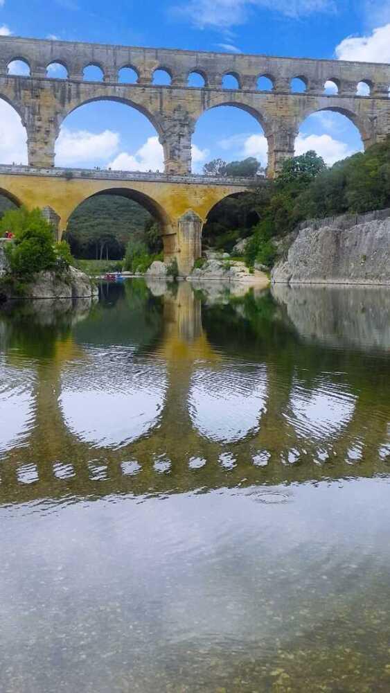 The Pont du Gard, - France - the Roman aqueduct