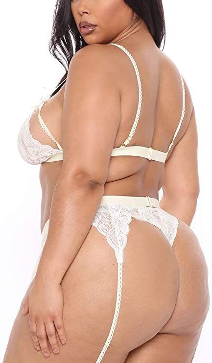 Babydoll Lingerie - Plus Size - Bodysuite