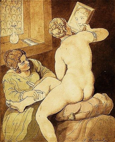 Thomas Rowlandson Nude Painting & Draws