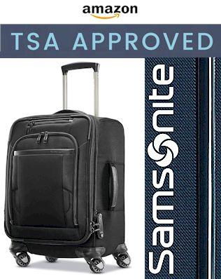 Samsonite Pro Travel Softside Expandable Carry-On TSA Approved
