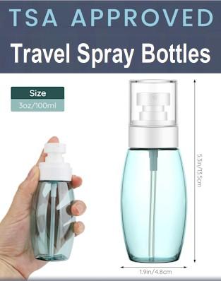 Travel Spray Bottles - Aerosol cans on planes checked baggage -TSA liquid rules 2021