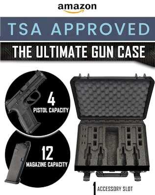 Gun Case Waterproof, Heavy Duty - Tactical Firearms, Ammunition, and Accessory Holder