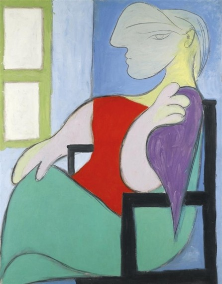 Femme assise près d une fenêtre (Woman sitting by a window) A Picasso in New York