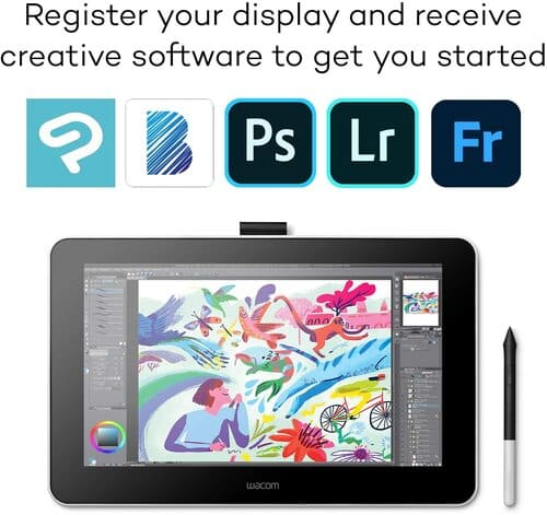 Wacom (DTC133W0A) Intuos Digital Drawing Tablet with Screen, 13.3 Inch Graphics Display for Art and Animation Beginners & Express Key Remote