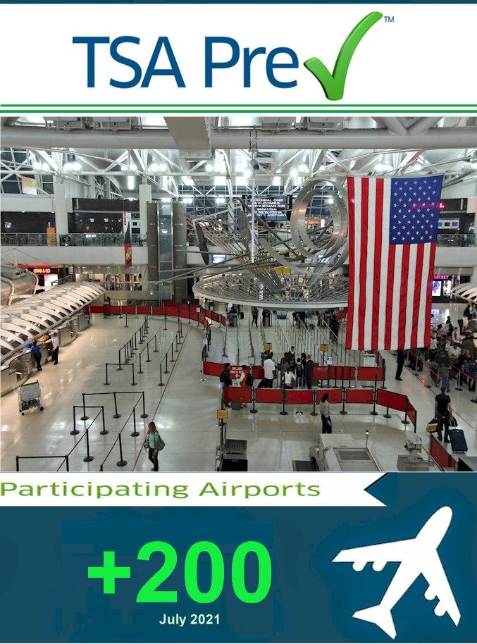 Glacier Travel Patagonia - PreCheck TSA  Participating Airports