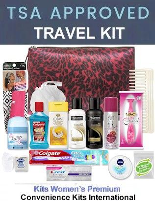Women Premium Toiletry Bag, Kit TSA Approved - TSApacking rules 2021