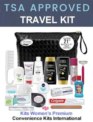 Women  Toiletry Bag, Kit TSA Approved - TSApacking rules 2021