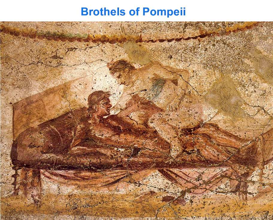 How Many Brothels were there in Pompeii? Almost 30 brothels.