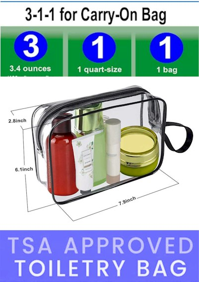 3-1-1 Toiletry Bag TSA Aproved 2021